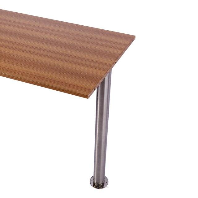 710 1100mm Adjule Breakfast Bar Table Legs Coffee Desk Metal Brushed Steel Chrome