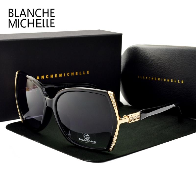 Blanche Michelle High Quality Oversized Polarized Sunglasses Women UV400 Oculos De Sol Gradient Driving Sun Glasses With Box