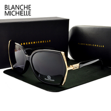Blanche Michelle High Quality Oversized Polarized Sunglasses Women UV400 oculos de sol Gradient Driving Sun Glasses With Box