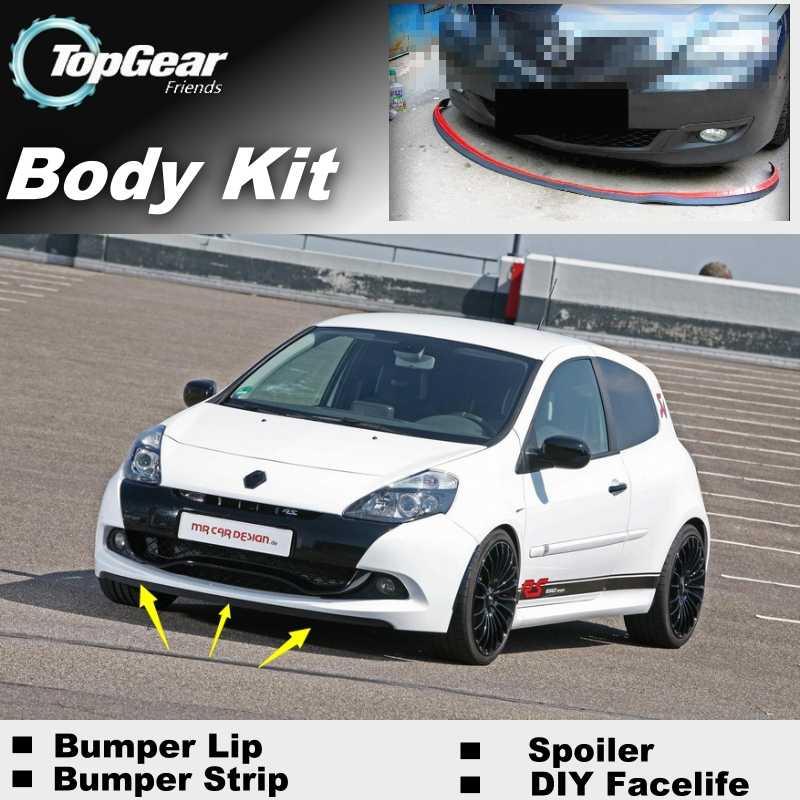 Bumper Lip Deflector Lips For Renault Clio / Lutecia Front Spoiler