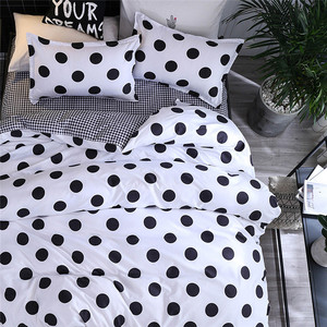 Image 2 - Four Piece Quilt Cover, Pillowcase Dot Black Full Size duvet cover  bedroom sweet dreams Gently mattresses beauty salon couch