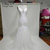 Simple Wedding Gowns Formal Wear Boho Mermaid Wedding Dress Vestido Boho Vestido De Noiva Plus Size