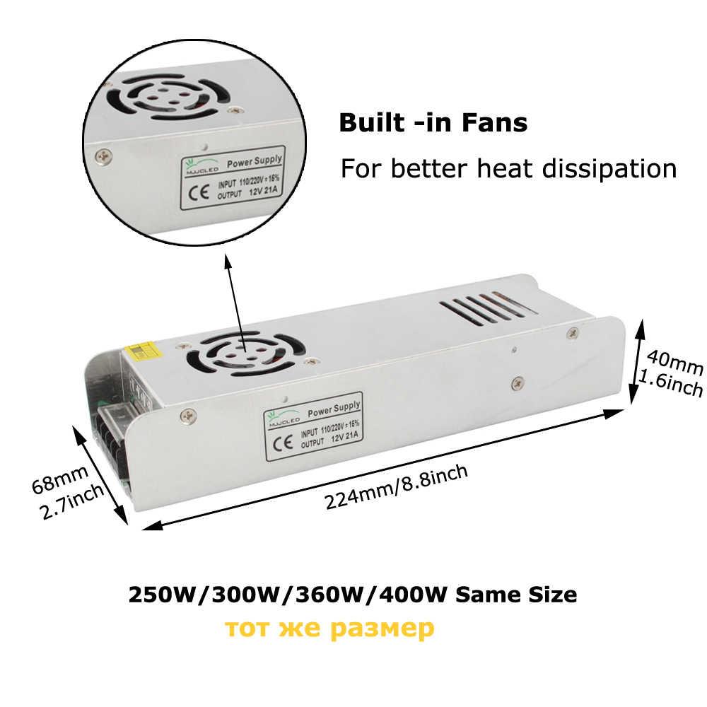 12 вольт питание В в 5A 10A 15A 20A 30A 33A электронный трансформатор 110 V 220 V до В 12 В блок питания для светодиодные ленты свет