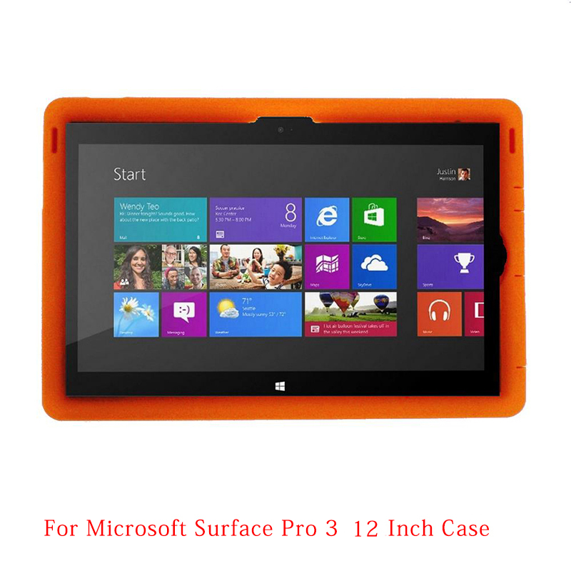 MingShore For Surface Pro 3 Tablet PC Silicone Case Pro 3 12.0 Rugged Kids' Silicone Cover For Surface Pro 3 12.0inch Tablet rfid 125khz 7 inch fingerprint rugged tablet pc industry pc