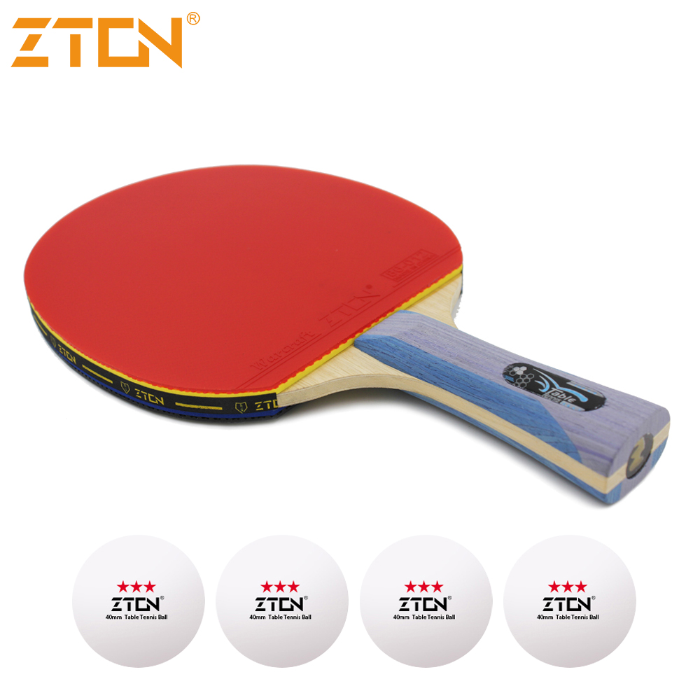 ZTON 7 stars Table tennis racket Ddouble Pimples in rubber Ping Pong Racket tenis de mesa table tennis
