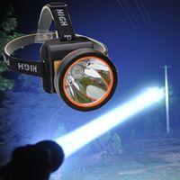 Işıklar ve Aydınlatma'ten Kafa Lambaları'de Parlak şarj edilebilir lithunmbattery LED l2 Far Yürüyüş için Madencilik Balıkçılık far 18650