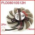 Power logic pld08010s12h 74mm 40*40*40mm dc12v 0.25a 2 fio 2pin para gigabyte graphics card refrigerador de refrigeração fã