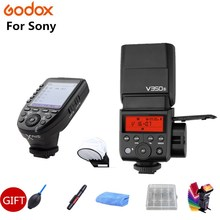 Godox V350S TTL HSS 1/8000s Speedlite Flash with Built-in 2000mAh Li-ion Battery with Xpro-S Flash Transmitter for Sony+GIFT godox v350n mini flash ttl hss 1 8000s 2 4g x system built in 2000mah li ion battery camera speedlite flash for nikon camera