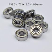 R3ZZ 4.763*12.7*4.98(mm) 10pieces bearing  Metal sealed  free shipping ABEC-5 bearings hardware Transmission Parts