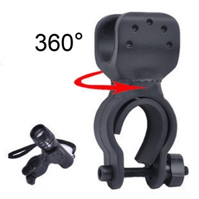 360 Поворотный велосипед Цикл Руль бар зажим Крепление фонарик крепёжный кронштейн факел держатель спереди свет клип Зажим Фонари аксессуар