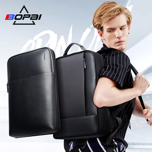 Image 2 - Bopai mochilas de viagem couro casual com 15.6 polegada portátil mochila 2 em 1 multifuncional uso diário saco viagem usb carga