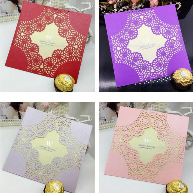 Online buy wholesale party invitation packs from china party 50pcspack wedding party invitation card romantic card envelope delicate carved lace pattern wedding invitations stopboris Choice Image