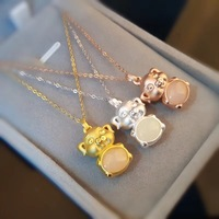 New Fashion Girl Animal Cute Pig 3D Pendant Necklace Real S925 Silver Necklace 3D Vacuum Lucky Pig Necklace Jewelry Certificate
