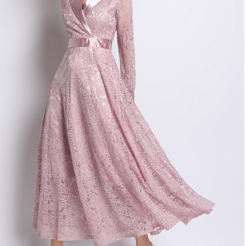La MaxPa Hot Pink Lace Dress Women 39 s Clothing Catwalk Dress For Women Summer Sale Runway Clothes Elegant Coming Soon Sell out in Dresses from Women 39 s Clothing