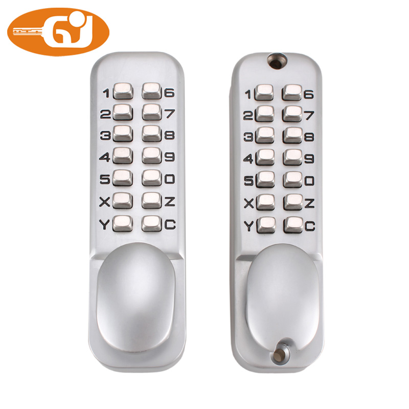 Zinc alloy code push button mechanical combination door lock