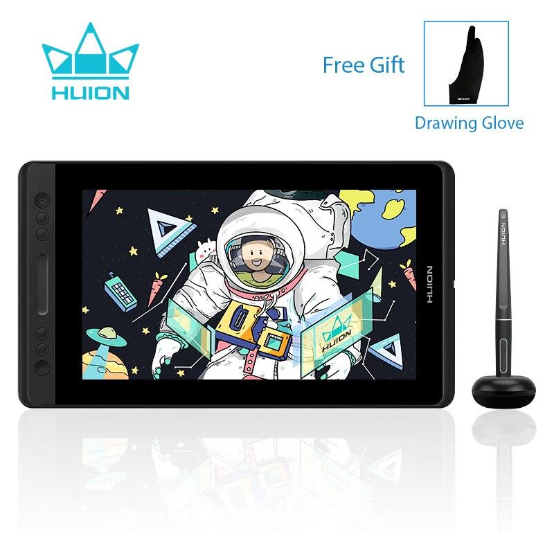 HUION Kamvas Pro 13 GT-133 Graphique Dessin Stylo Tablette Moniteur avec Batterie-livraison Stylus Pen Display Moniteur 8192 Niveaux