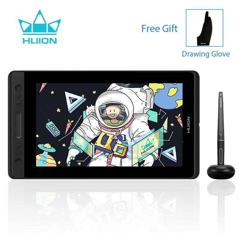 HUION Kamvas Pro 13 GT-133 dibujo gráfico pluma tableta Monitor con lápiz óptico sin batería Monitor pantalla 8192 niveles