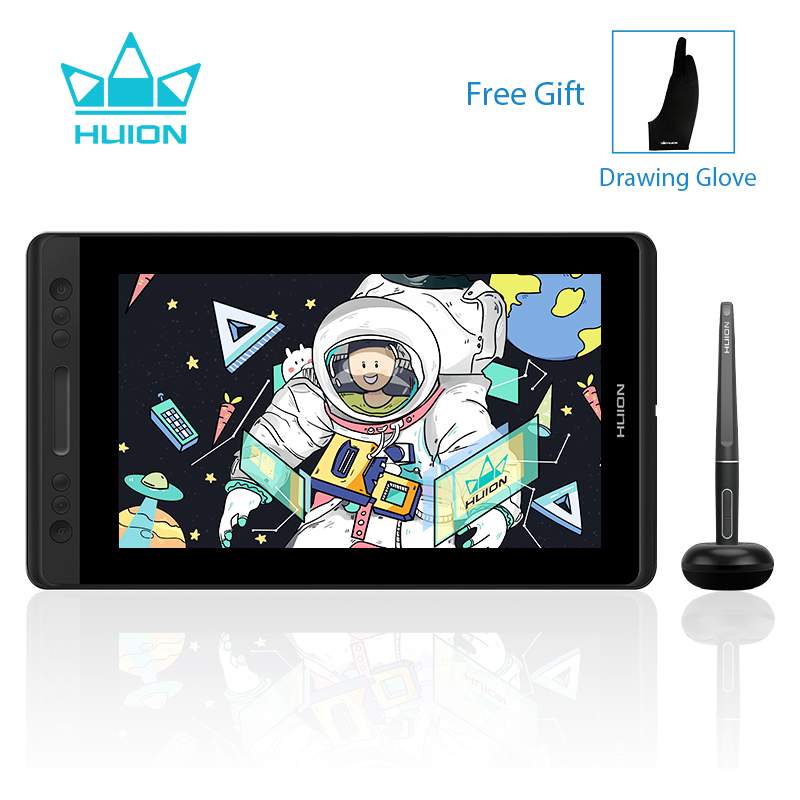 HUION Kamvas Pro 13 GT-133 Gráficos Drawing Tablet Caneta Monitor com Bateria-free Stylus Pen Display Monitor de 8192 Níveis