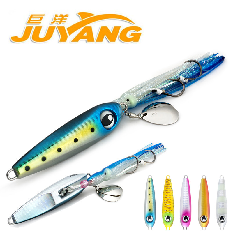 Juyang fishing lure spoon 160g sea fishing bait metal jig for Fishing with jigs