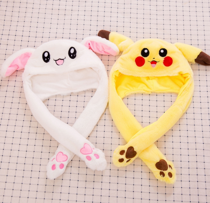 100Pcslot Moving Rabbit Ears Hat Toy Hand Pinching Ear To -5618