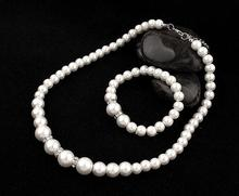 Fashion Classic Imitation Pearl Silver Plated Clear Crystal