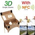 "Alta calidad DIY Google Cartón VR Teléfono Móvil Visualización 3D Gafas de Realidad Virtual con NFC Etiqueta para 5.0 ""de Pantalla"