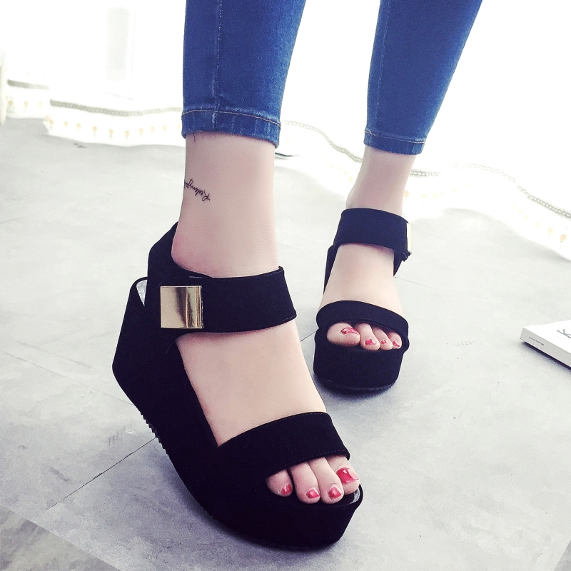 2017 New Women Wedges Sandals Women's Platform Sandals Fashion Summer Shoes Women Casual Shoes 35 phyanic 2017 gladiator sandals gold silver shoes woman summer platform wedges glitters creepers casual women shoes phy3323
