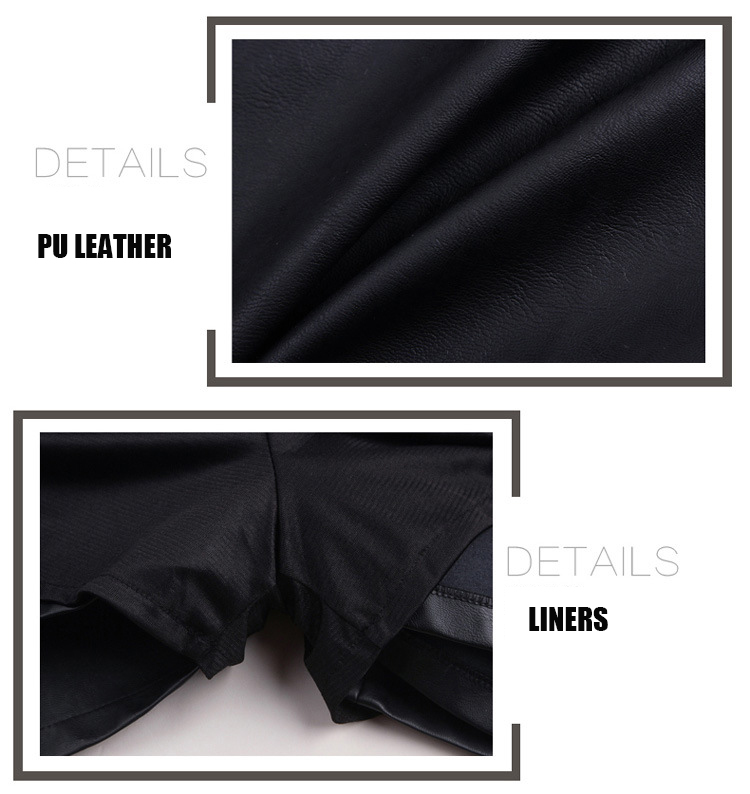 High Waist Black A-Line Double-Breasted Mini Skirt 6