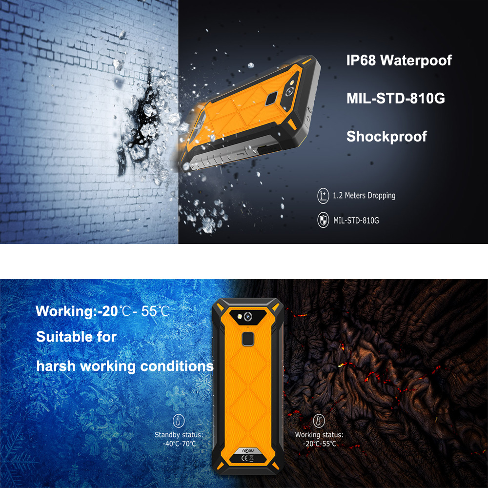 Nomu S50 Pro 2019 Smartphone Android 8 1 IP69 IP68 Waterproof Shockproof  Mobile Phones 5 72