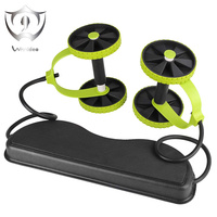 Wnnideo AB Roller Wheel Fitness Abdominal Exercises Equipment New Sport Core Double Wheel Waist Slimming Trainer for Home Gym
