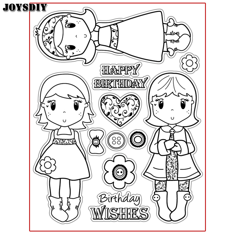SWEET GIRL HAPPY BIRTHDAY LOVE Scrapbook DIY  photo cards account rubber stamp clear stamp transparent stamp Handmade card stamp spider texture background scrapbook diy photo cards account rubber stamp clear stamp transparent stamp handmade card stamp