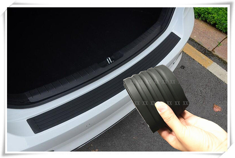Protection de pare-chocs de protection arrière en caoutchouc noir style voiture protège-garniture pour citroën c4 skoda seat leon ibiza mazda 6 mini cooper golf 7