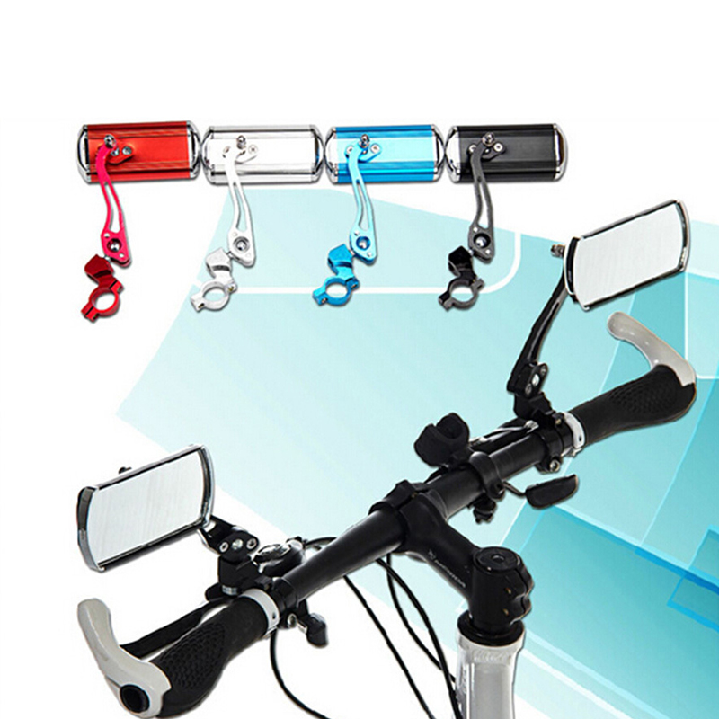 2 Pçs/lote Guidão de Bicicleta Guiador Espelho Lateral Espelho Retrovisor Espelho Refletivo de Segurança Acessórios PA0018