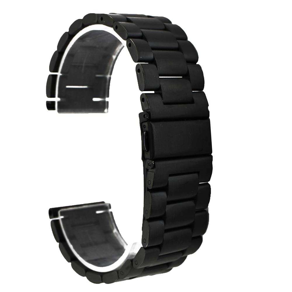 18mm 20mm Stainless Steel Watch Band for DW Daniel Wellington Quick Release Metal Strap Wrist Loop Belt Bracelet Black Silver