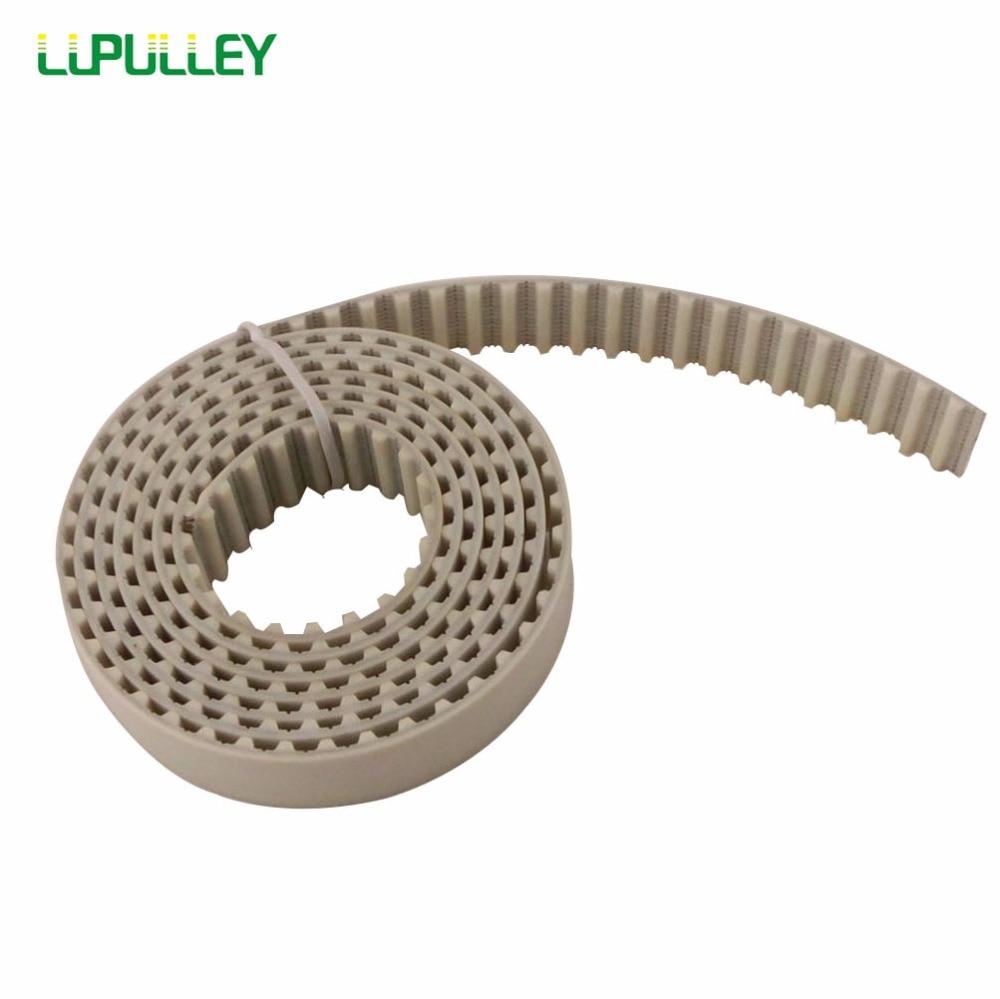 LUPULLEY White PU XL Open Timing Belt 1M/2M/3M/4M/5M/6M/7M/8M/9M/10M Pitch Length XL-10mm Open Timing Belt 1 8m 2 1m 2 4m 2 7m 3 0m 100