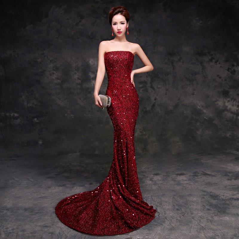 Vestidos de fiesta rojo vino