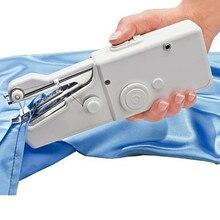Электрическая ручная швейная машина Мини Портативная на батарейках Удобная швейная машина для шитья одежды для путешествий домашнего использования