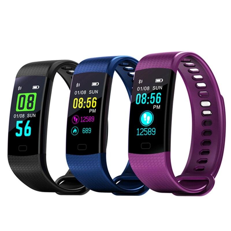 OGEDA Y5 Fitness Bracelet Smart Wristbands Heart Rate Monitor Blood Pressure Fitness Tracker Smart Bracelet Color Screen Band goral y5 smart bracelet 0 96 inch tft color screen