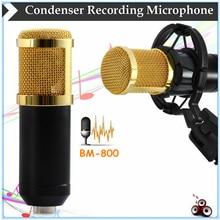 BM-800 4 tipo Color De Moda Estilo Micrófono de Condensador de Micrófono de Condensador de Estudio de Grabación de Sonido Micro teléfono Montaje de Choque