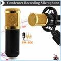 BM-800 4 tipo Cor Da Moda Estilo Microfone Condensador Microfone Condensador de Estúdio de Gravação de Som Micro telefone Choque Monte