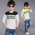 Boys T-shirt 2016 Autumn Spring New Teen Clothing Pure Cotton Kids T-shirts Boy For Garcon T Shirt Long Sleeve Tops T12