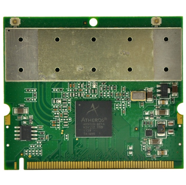 US $12 99  Atheros AR9220 802 11a/b/g/n Dual Band 2 4/5GHz 300Mbps Mini PCI  Mini PCI WiFi Adapter 19dBi for ROS / Linux / Windows 7/8/10-in Network