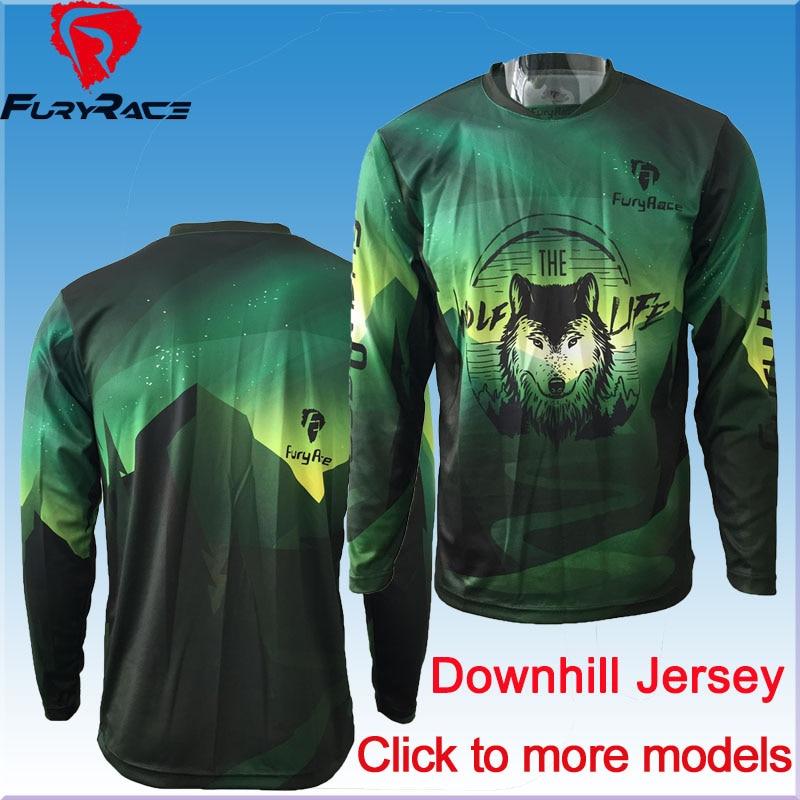 Prix pour Cliquez Pour Voir Plus de Modèles! hommes de Moto Motocross Racing DH Descente Jersey/MX VTT t-shirt Jersey Jersey/Vélo Usage de Recyclage