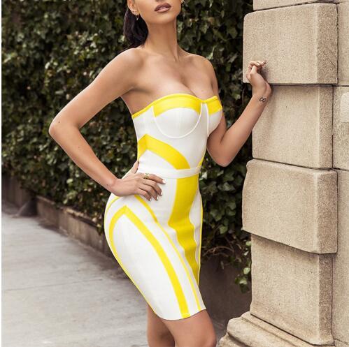 Celebrity Dress Aderente Da Night 2018 Partito Sexy All'ingrosso Delle Nuovo Fasciatura Senza Maniche Spalline Più Out Vestidos Vestito Donne 8n0yvmNwO