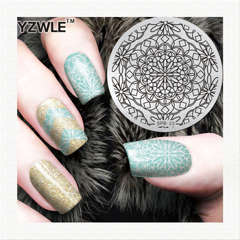 Blooming Flower Unique Design Good Quality Stainless Steel Nail Art Image Plate DIY Stylish Nail Art Pattern Polish image