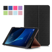 PU Leather-based Stand Cowl Case for Samsung Galaxy Tab A 10.1 T580 T585 T585N 10.1″ Pill + 2Pcs Display Protector