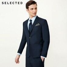 SELECTED Men's Pure Color Slim-Fit Blazer Regular Business Clothes T   41835X501