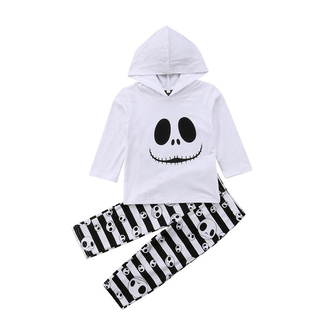 ba5f0417c927c1 Toddler Kids Baby Girls Hoodies Set Long Sleeve Halloween Tops Stripe Leggings  Pants 2pcs Outfits Clothes