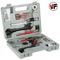 YOFE 17Pcs Tool Kit For Bicycle Repairing Tool Set Universal Keys For Mountain Bike Repair Chain Remover A Set of Keys Hand Tool