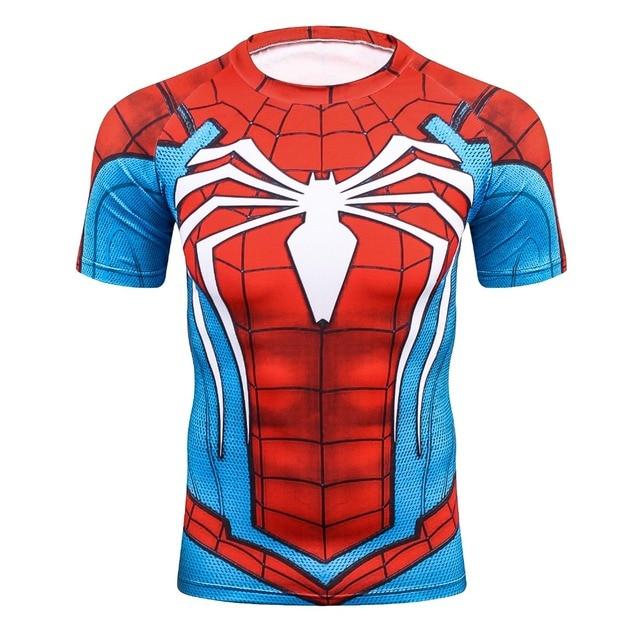 3aeb3586656ecc Summer 3D Print Compression T-Shirt Men Marvel Comic Superhero Spiderman  Superman Batman Short Sleeve T Shirt Fitness Clothing